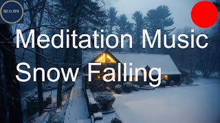 Deep Sleep Meditation Music For Anxiety, Relaxing Winter Piano Music, Snow Falling