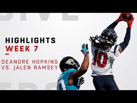 DeAndre Hopkins vs. Jalen Ramsey Highlights