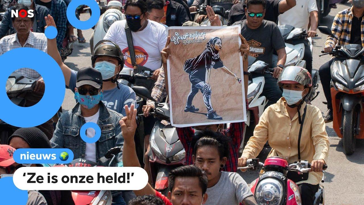Download Angel van 19 kwam om bij protesten in Myanmar