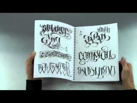 Letters to Live By Tattoo Sketchbook Volume 2 - YouTube