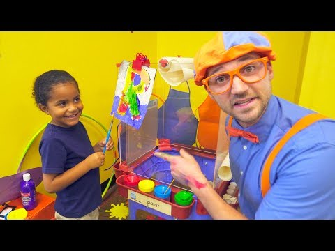Blippi at the Play Place | Learn About Professions for Child
