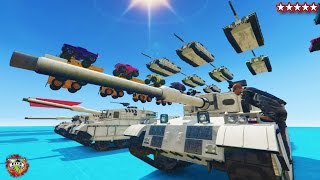 GTA 5 FIRST EVER TANK WALL RIDE - GTA 5 Online BEST EVER SAND BOX!! - GTA 5 FUNNY MOMENTS & FAILS