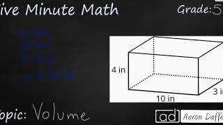 5th Grade Math Volume