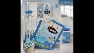 Blue Lagoon 9 Piece Baby Crib Bedding Set ; Sheets For Baby Crib, Baby Boy Crib Sets