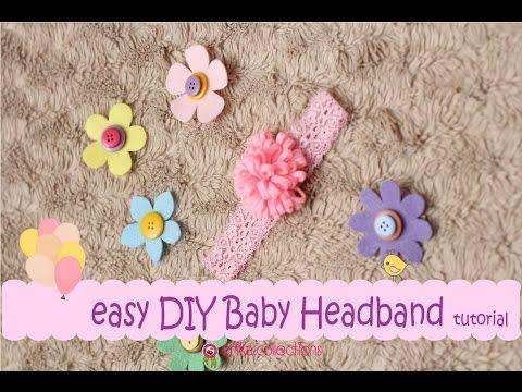 Easy Diy Baby Headband Tutorial Pink Flower Erika Felt Flanel