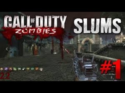 """World at War Custom Zombies I Lets Play #9 I """"Slums"""" First Try"""