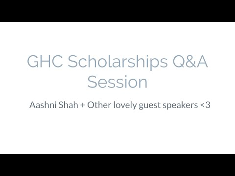 GHC Scholarship Q&A Session
