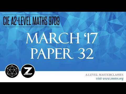 CIE A2 Maths 9709 | M17 P32 | Solved Past Paper - YouTube