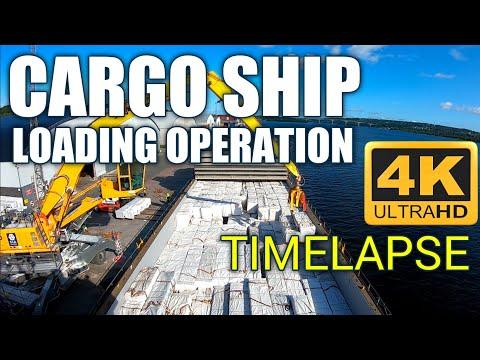Cargo Ship! Full Cargo Loading Operation! TIMELAPSE