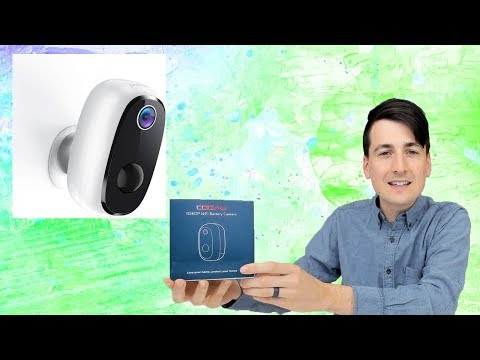 Rechargeable Battery Powered Home Security Camera // COOAU Wireless Security Camera Review