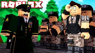 I was a KILLER in the ARMY! -Roblox Bootcamp Danish with ComKean