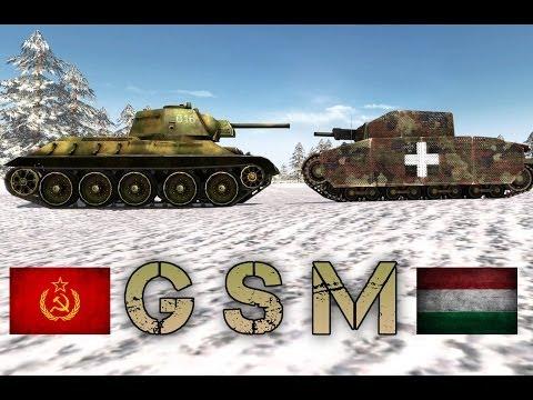 Men Of War Assault Squad (GSM Mod) - Tank Battles n°1 - Hungary vs USSR '44