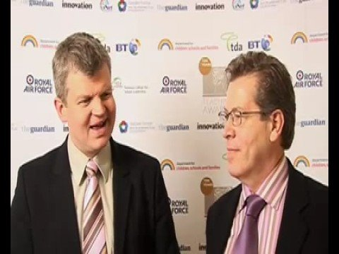 Melvyn Kershaw, 2008 Secondary Headteacher of the Year with Adrian Chiles