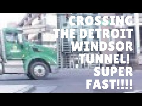 Crossing from Windsor Canada to Detroit Michigan