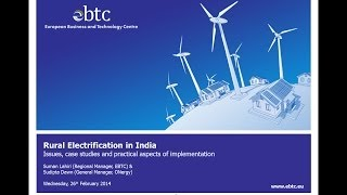 WEBINAR: Rural electrification in India