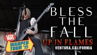 "Blessthefall - ""Up In Flames"" **NEW SONG** LIVE! Vans Warped Tour 2015"