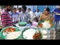 People Eating Roadside Veg & Non Veg Meals | Chicken Rice/Boti Rice/Fish Rice | StreetFood Hyderabad