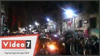 مظاهرة حاشدة فى حب مصر بوسط البلد احتفالا بفوز المنتخب
