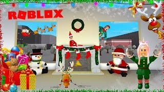 I'M AN ELF ON THE SHELF! DECORATING MY MANSION FOR BLOXBURG CHRISTMAS IN ROBLOX