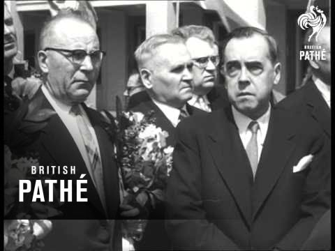 President Kekkonen Of Finland Arrives In Moscow (1958)