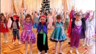 """Парный новогодний танец """"Бубенцы"""" ДОУ №8 """"Малыш"""" г.Шахтерск, Украина"""