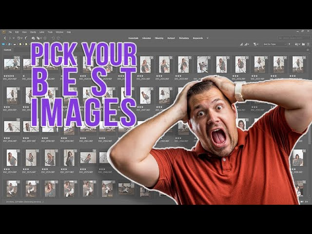 How to Pick Your Best Images from a Shoot
