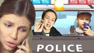 Преступник и Полицейский. Коп Иван Денисович ловит воришку Видео для детей
