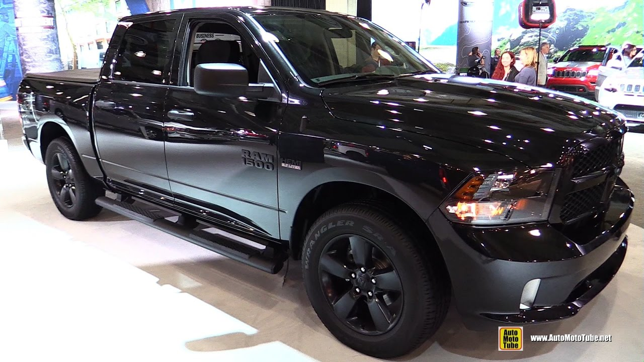 Dodge Ram Express >> 2017 Ram 1500 Black Express - Exterior and Interior Walkaround - 2017 New York Auto Show - YouTube