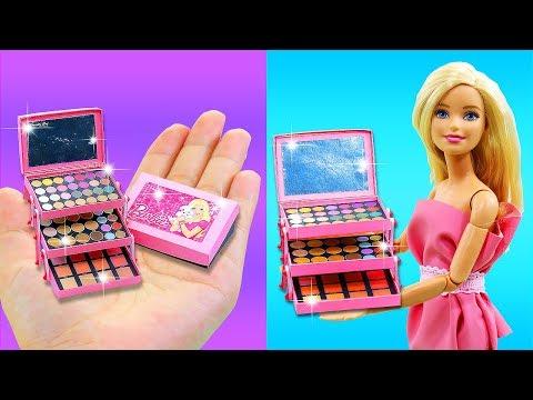 10 MINUTE CRAFTS and BARBIE HACKS - DIY Miniature Makeup Set, Barbie Baby Set and more