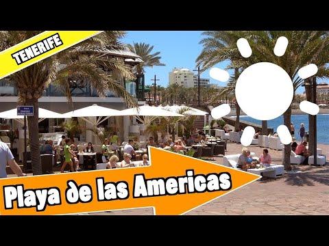 Playa de las Americas Tenerife Spain: Tour of beach and resort