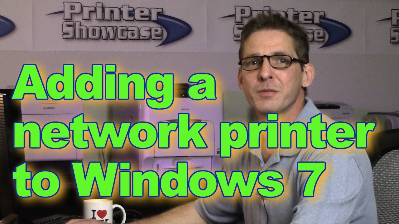 how to add network printer in windows 7