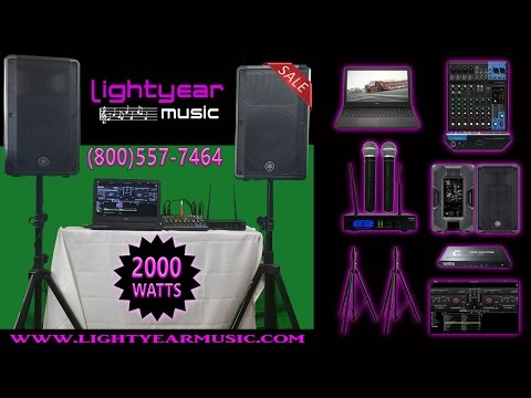 Professional Laptop Karaoke System with Yamaha DBR12 Speakers -Lightyearmusic (800)557-7464