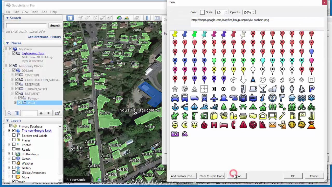Texts To Labels When Publishing To Google Earth Bricscad