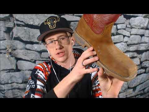 ASMR- Boot Cleaning (Leather Triggers)