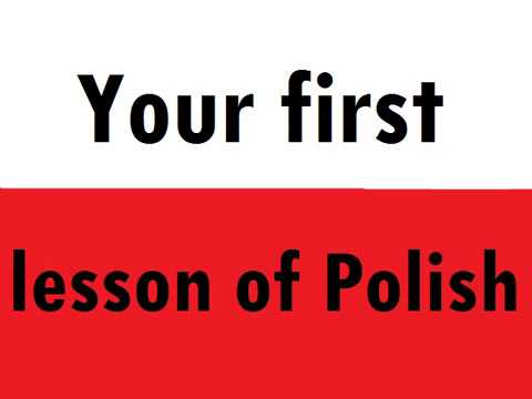 Your first lesson of Polish