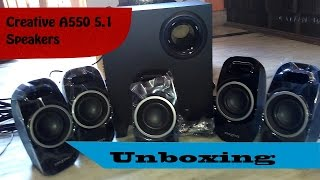 Creative SBS a550 5.1 Speakers Unboxing!!!!....