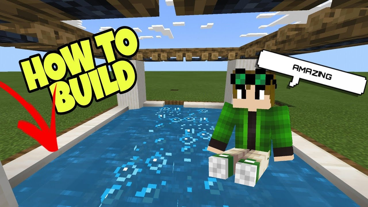✔ How to make a Hot Tub in MCPE (NO MODS NO ADDONS)