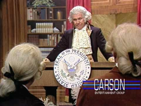 Johnny Carson's Funny Impression of George Washington at His First Press Conference, 1977