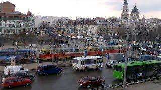 Страйк у Харкові. Центр Перекрили Трамваями 12 квітня 2013