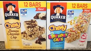 Quaker: Banana Chocolate Chip & Birthday Cake Granola Bar Review