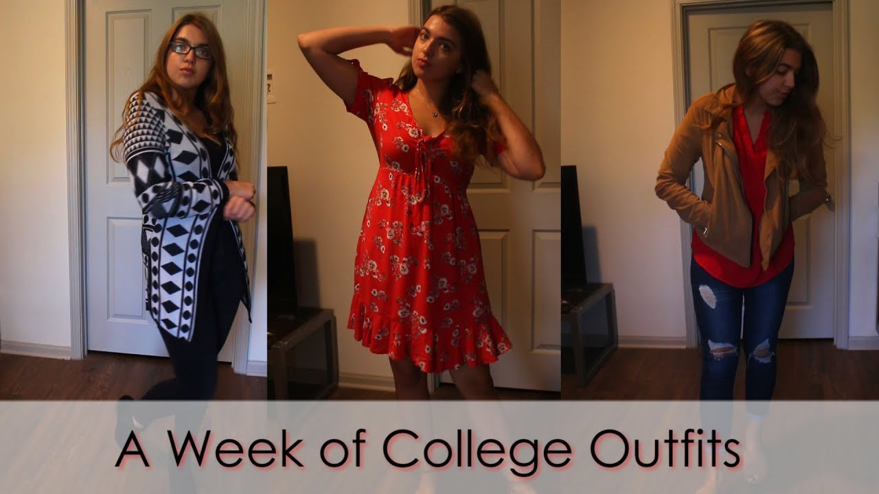 [VIDEO] - What I Wear in a Week at College // Outfits of the week 2