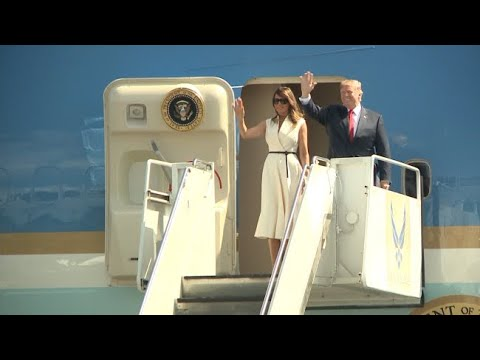 President Trump, first lady arrive in Honolulu