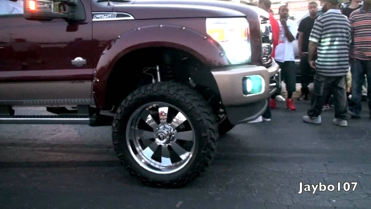 Ford F250 On 24 Inch Forgiato Wrap In Truck Tires Youtube