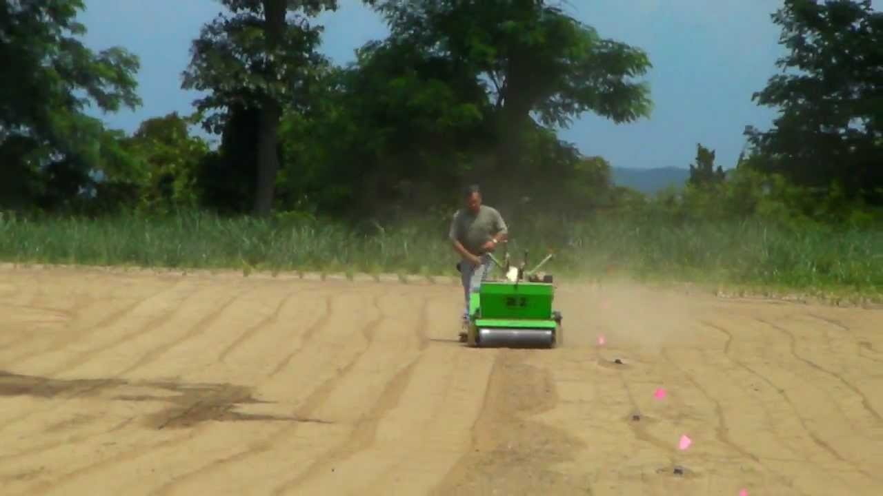 New Lawn Seeding Machine Walk Behind Youtube
