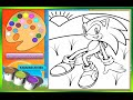 Sonic The Hedgehog Coloring Pages For Kids - Sonic The Hedgehog Coloring Pages