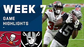 Buccaneers vs. Raiders Week 7 Highlights | NFL 2020