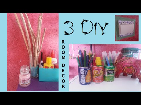 diy 3 diy pour d corer sa chambre youtube. Black Bedroom Furniture Sets. Home Design Ideas