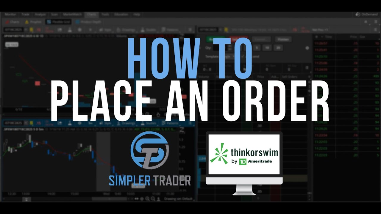 How to Place an Order - ThinkOrSwim Tutorial