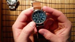 Brass wrist watch