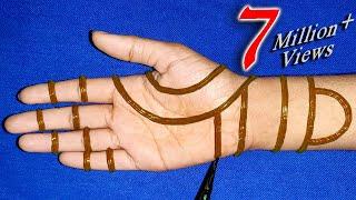 Easy Trick hand mehndi with Dots | Mehndi for Beginners | mehndi designs
